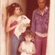 Com os netos Sheyla, Augusto César e Leonardo