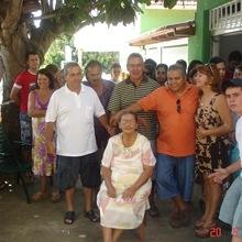 Família reunida em maio de 2007